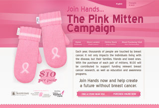 The Pink Mitten Campaign Veikali:Shopping