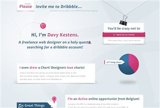 Invite me to Dribbble Humors:Humour